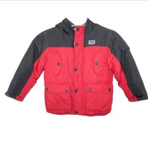 OshKosh Boy's Red & Black Winter Coat - 5
